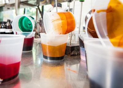 coloranti/liquidi/laboratorio